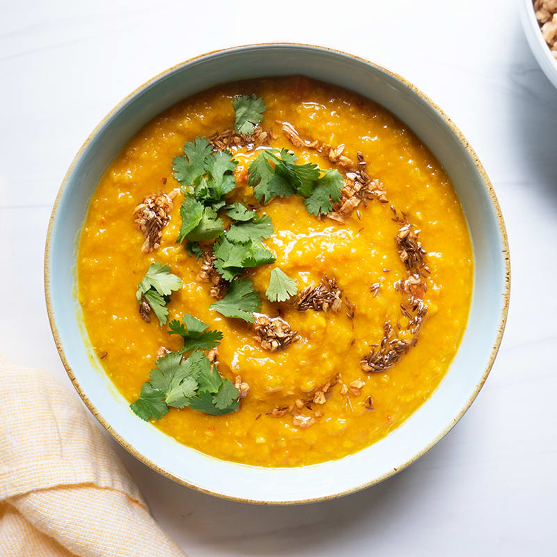 Photo of Red lentil dal with cumin oil by WW