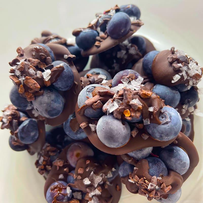 Photo of Chocolate-drizzled blueberry disks by Digital 360 Coach Kayla by WW