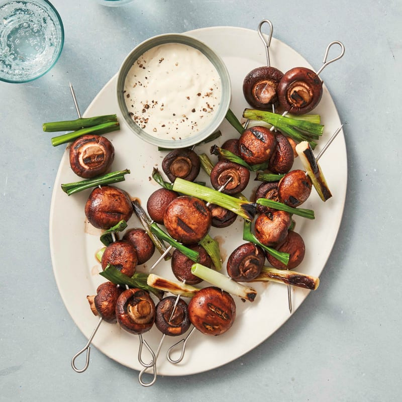 Photo of Grilled cremini mushrooms with Dijon dipping sauce by WW
