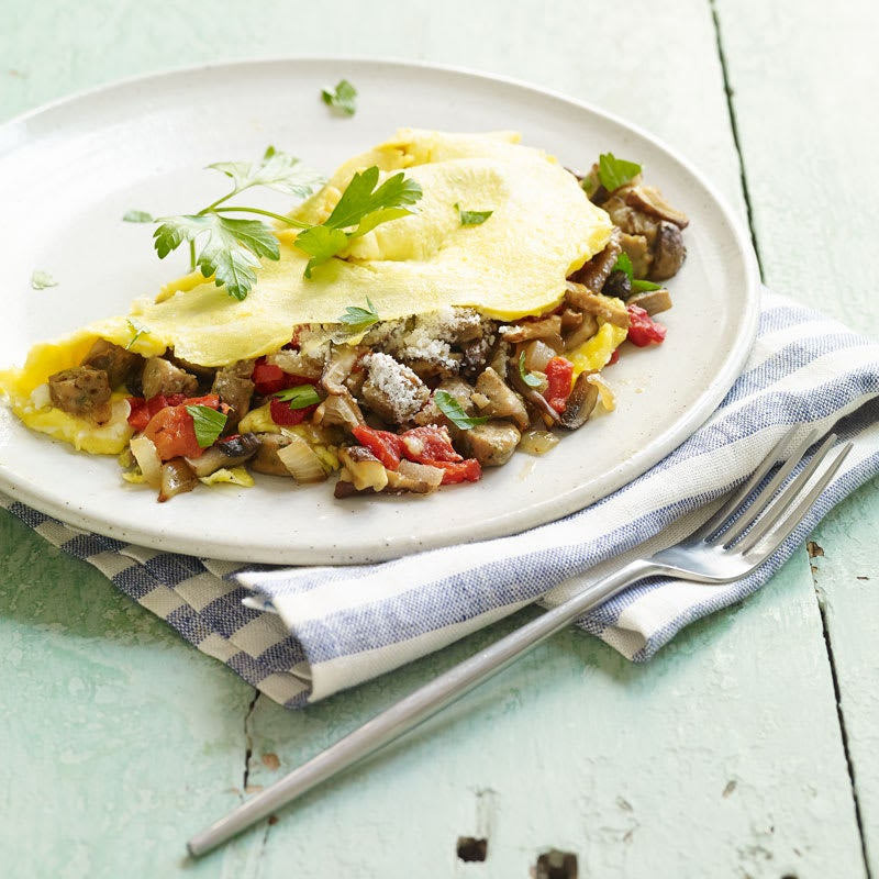 Photo of Italian turkey sausage and vegetable omelet by WW
