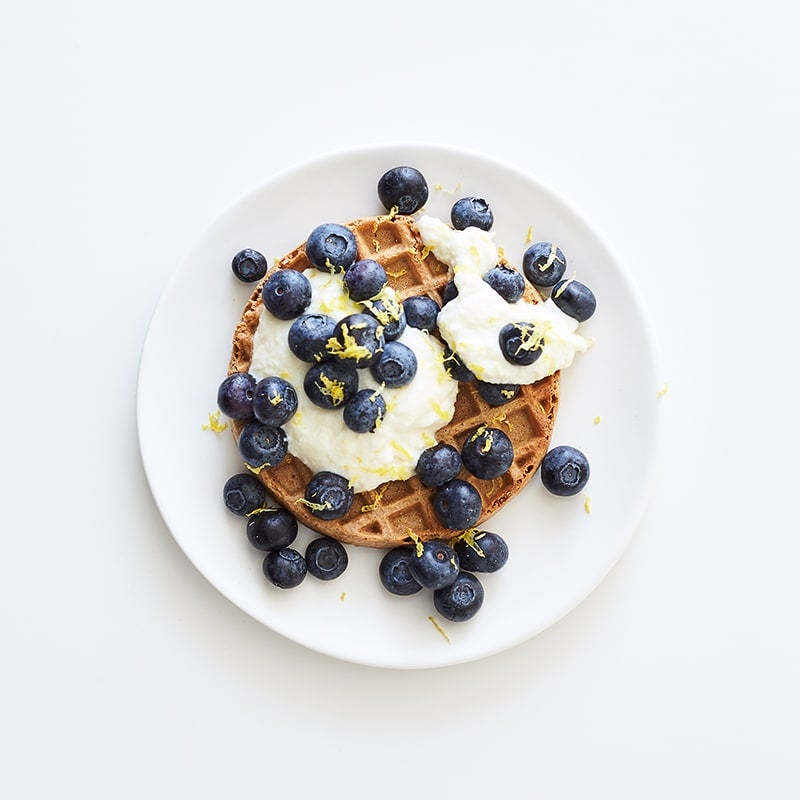 Photo of Waffle with lemony ricotta and blueberries by WW