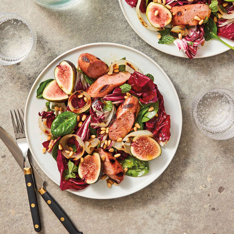 Photo of Grilled chicken sausage and onion salad with figs by WW