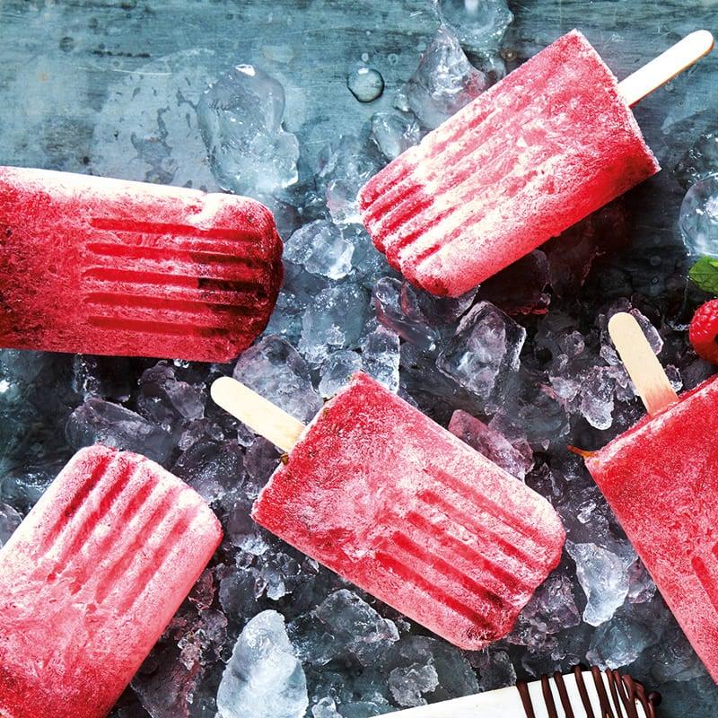 Photo of Raspberry-mint ice pops by WW