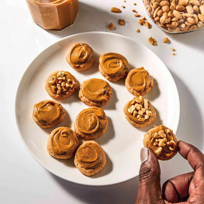 Photo of Peanut butter cookies with crushed peanuts by WW