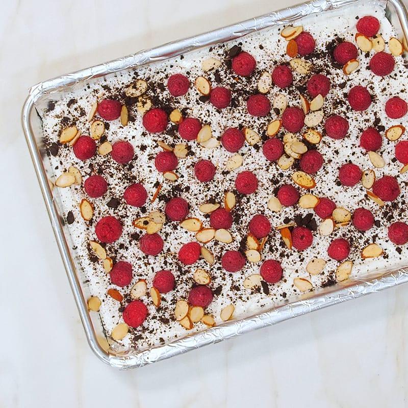 Photo of Frozen raspberry-chocolate cookie yogurt bark by WW
