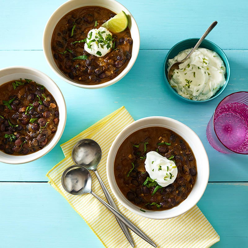 Photo of Black bean soup with lime cream by WW