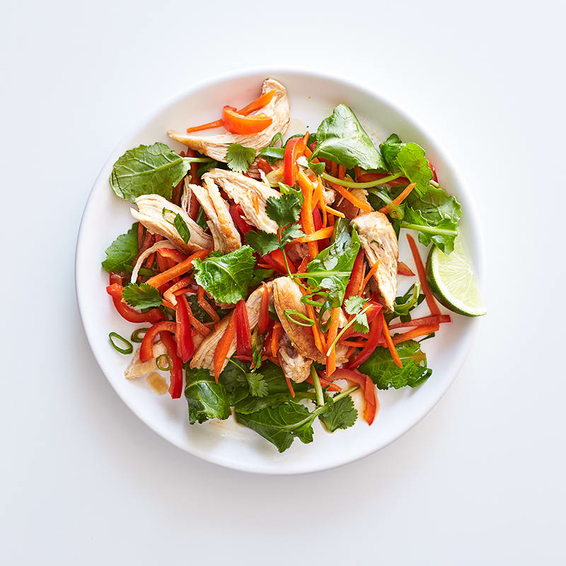 Photo of Sesame-lime chicken salad on baby kale by WW