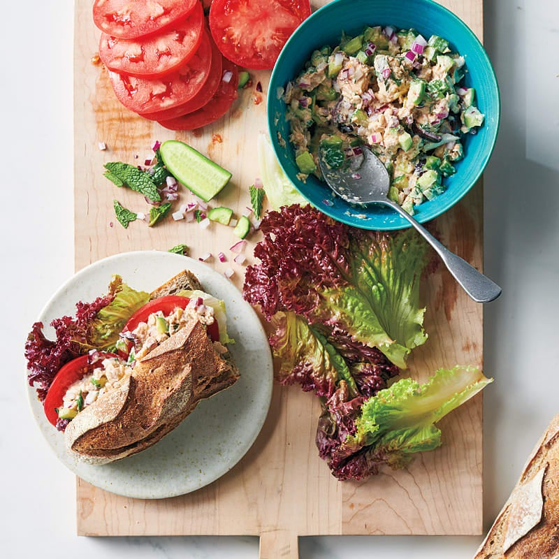 Photo of Salmon, cucumber, and mint sandwiches by WW