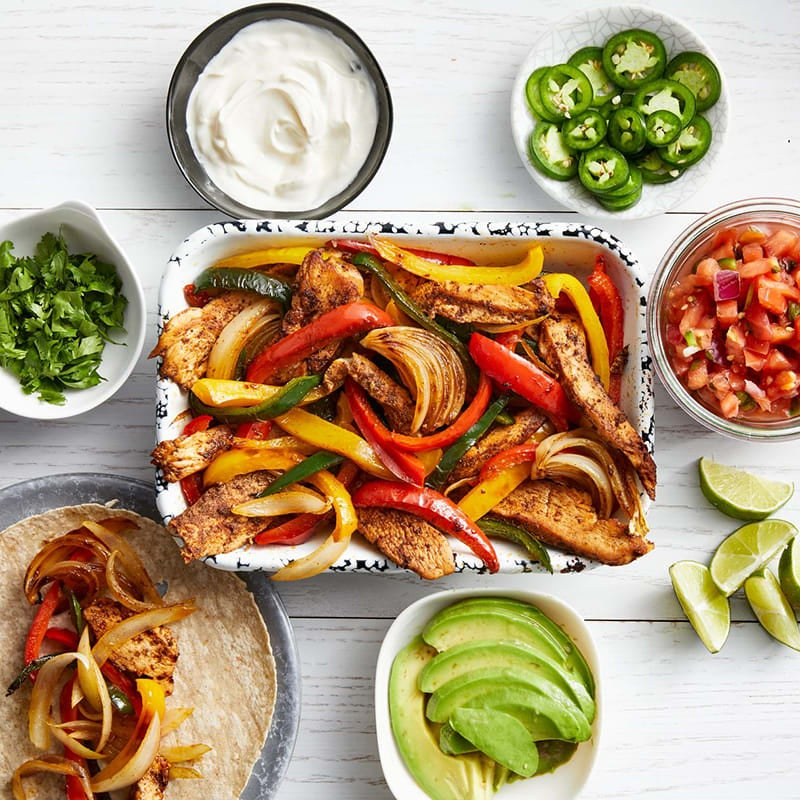 Photo of Sheet-pan chicken fajitas with the works by WW