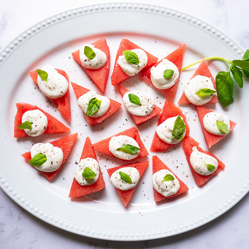 Photo of Fresh watermelon bites with whipped feta by WW