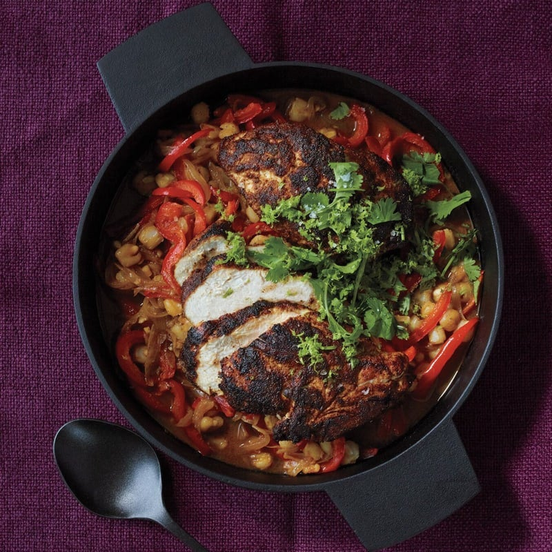 Photo of Chicken with hominy and bell peppers by WW