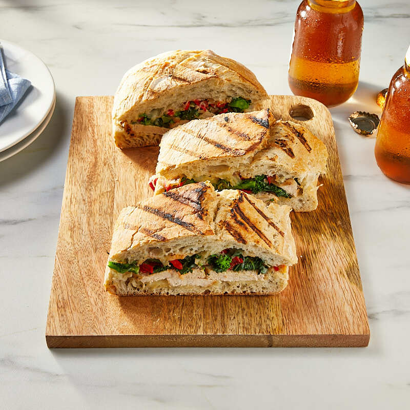 Photo of Grilled chicken, broccoli rabe, and peppadew sandwiches by WW