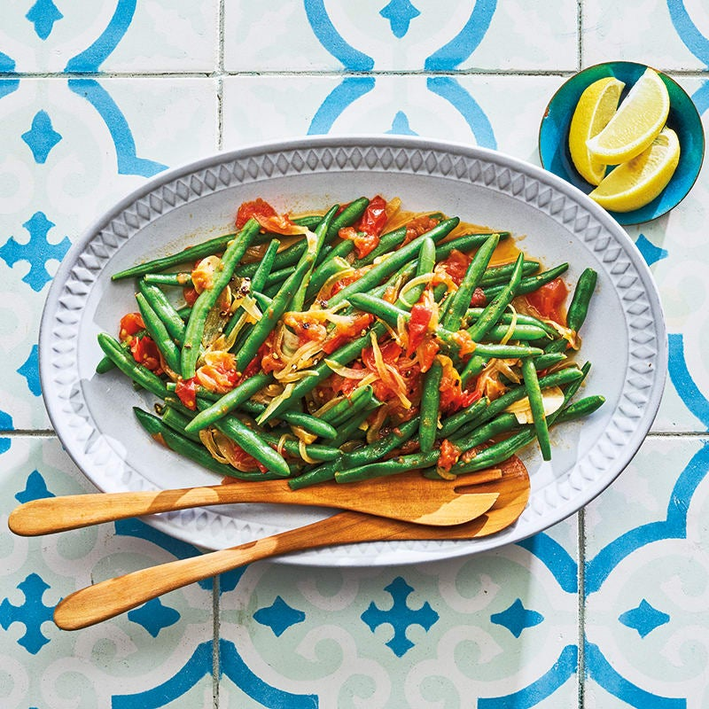 Photo of Italian braised green beans with lemon & tomatoes by WW