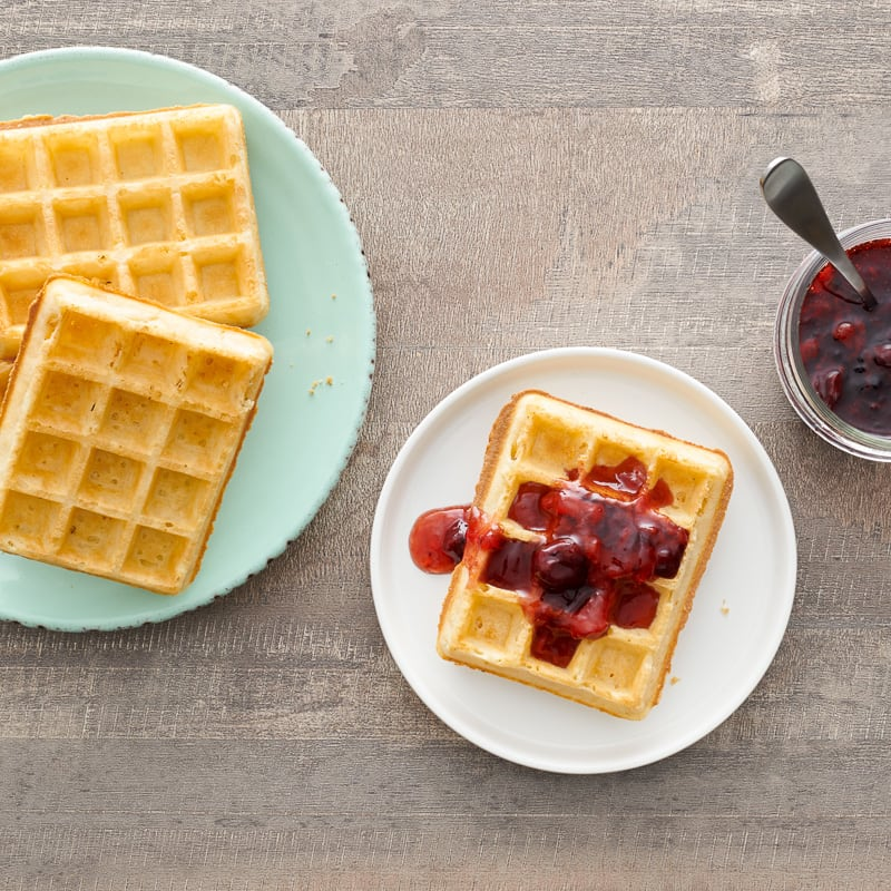 Photo of Multigrain waffles with berry sauce by WW