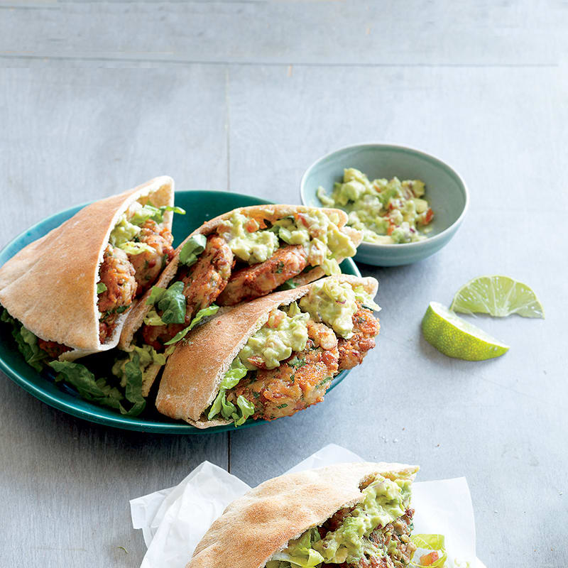 Photo of Falafel sandwiches with avocado-lime sauce by WW