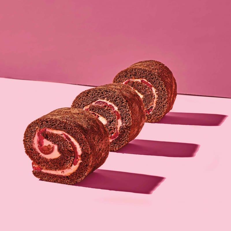 Photo of Chocolate & cherry Swiss rolls by WW