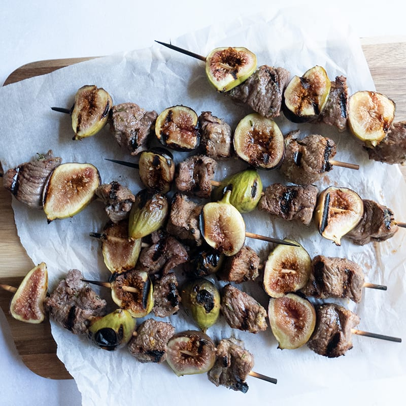 Photo of Lamb and fig kebabs by WW