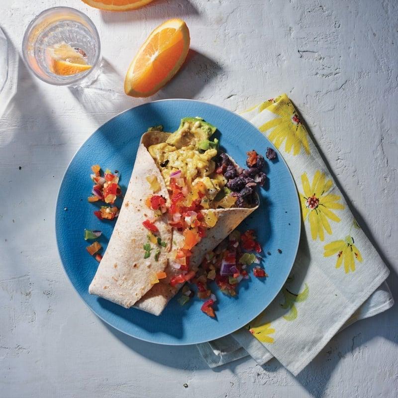 Photo of Egg, black bean, and avocado breakfast wraps by WW