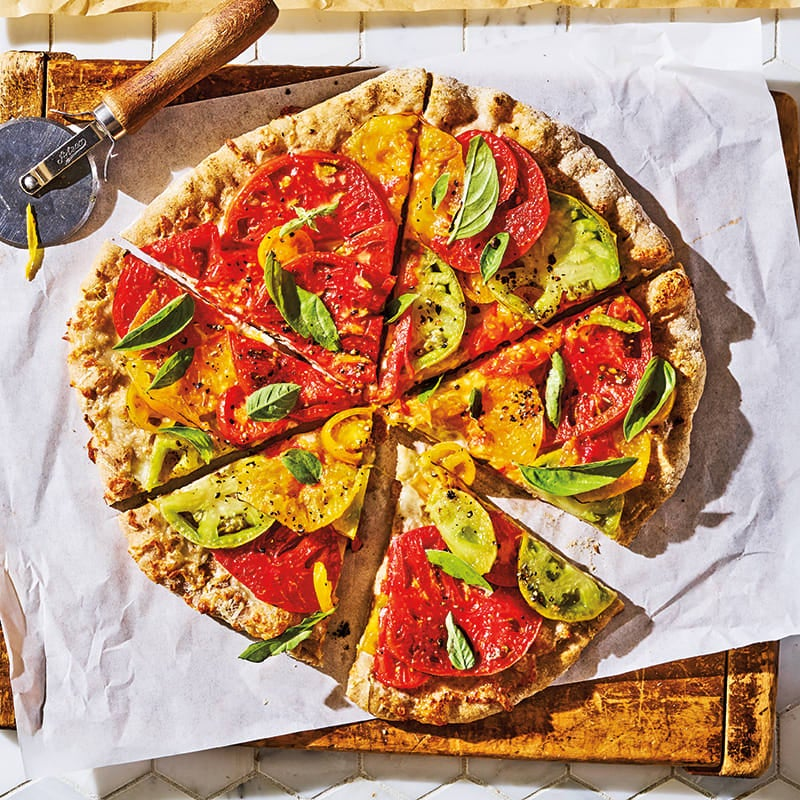 Photo of Heirloom tomato & basil pizza by WW