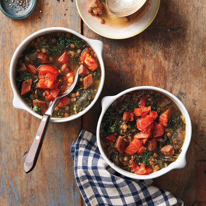 Photo of Lentil and chorizo soup with kale by WW