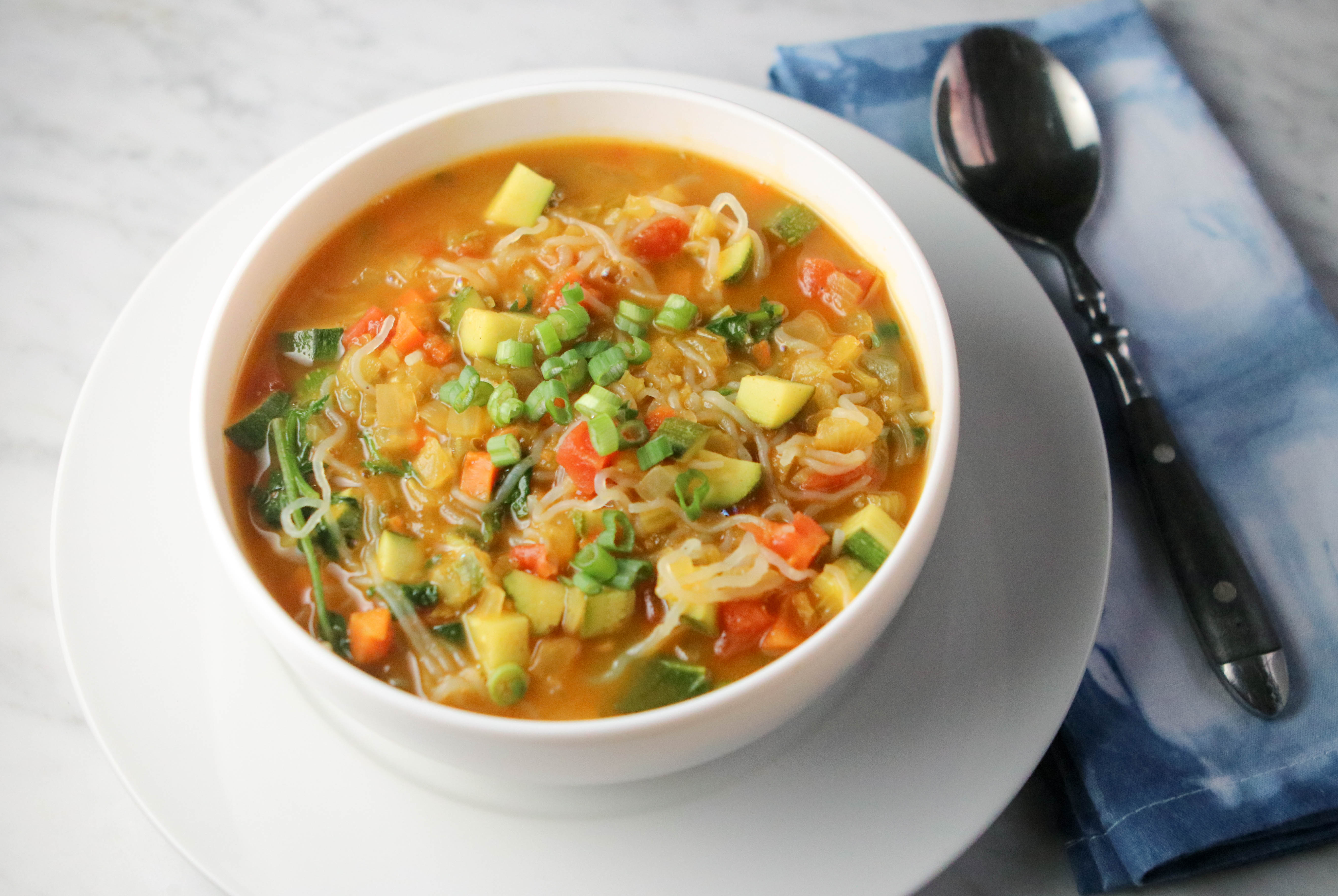 Photo of Vegetable curry noodle soup by WW