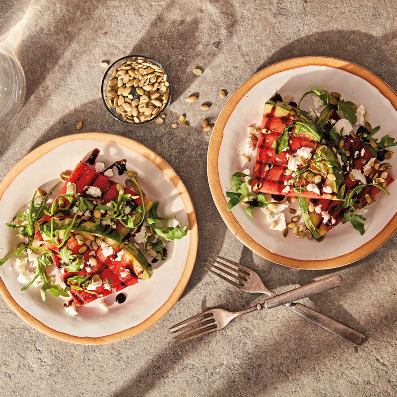 Photo of Grilled-watermelon salad with goat cheese by WW
