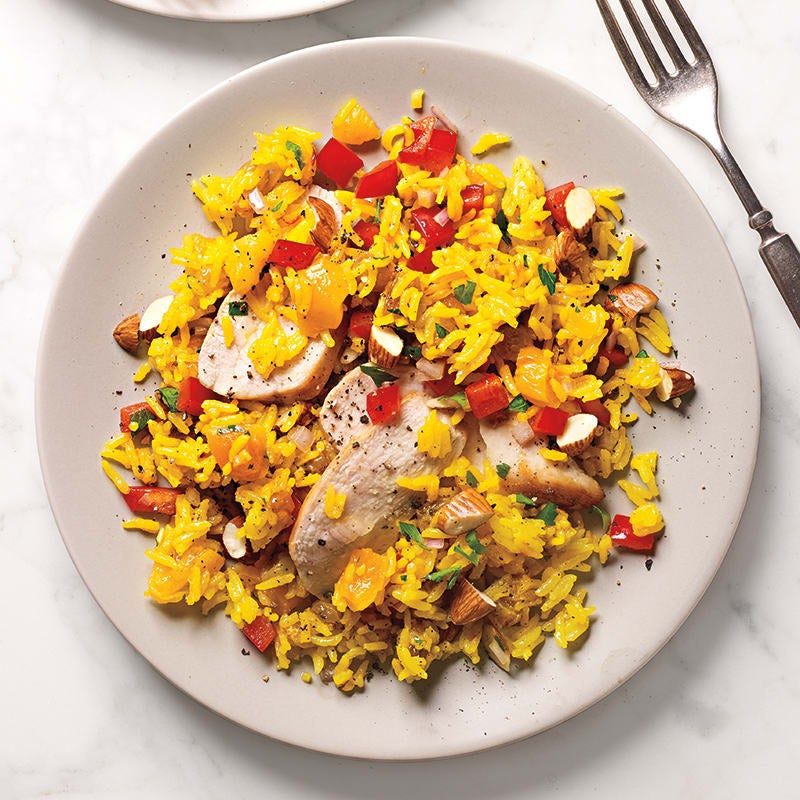 Photo of Rice salad with chicken and dried apricots by WW