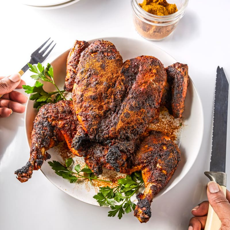 Photo of Spatchcocked BBQ chicken by WW