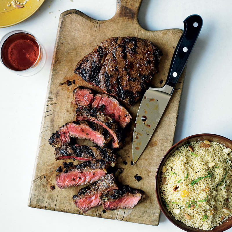Photo of Harissa-spiced sirloin with mint couscous by WW