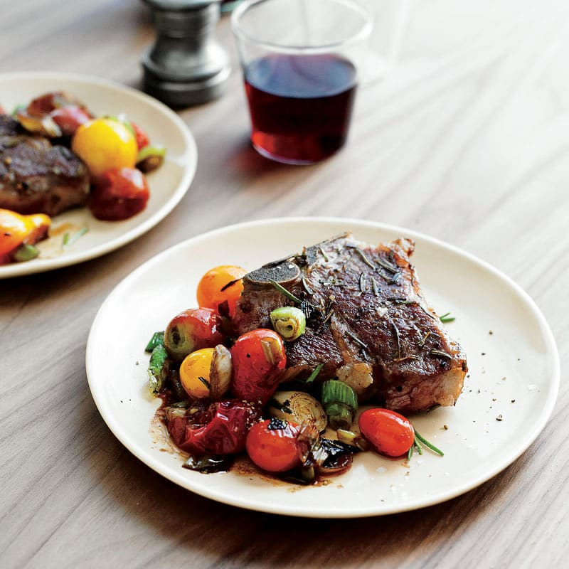 Photo of Rosemary lamb chops with balsamic tomatoes by WW