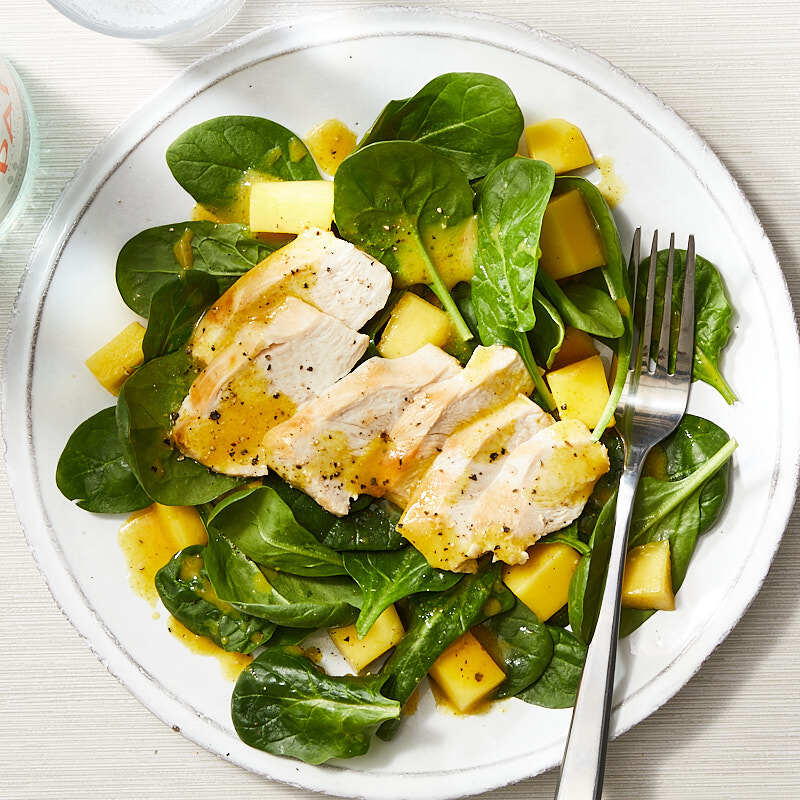 Photo of Chicken, mango, and spinach salad by WW
