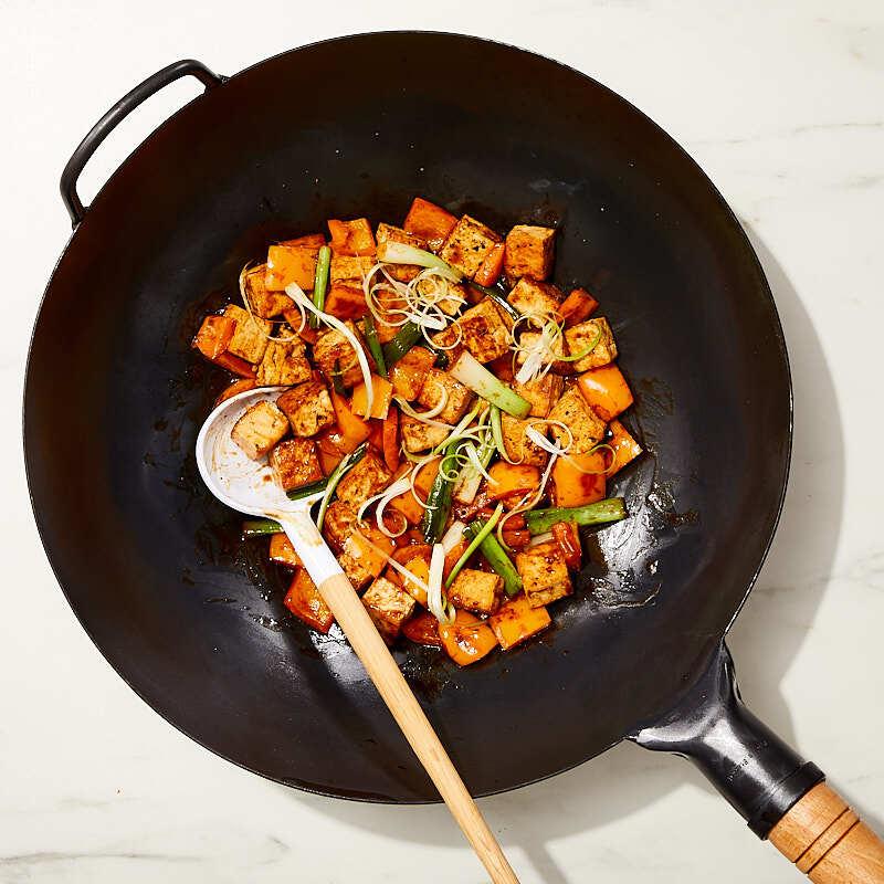 Photo of Stir-fried tofu with scallions by WW