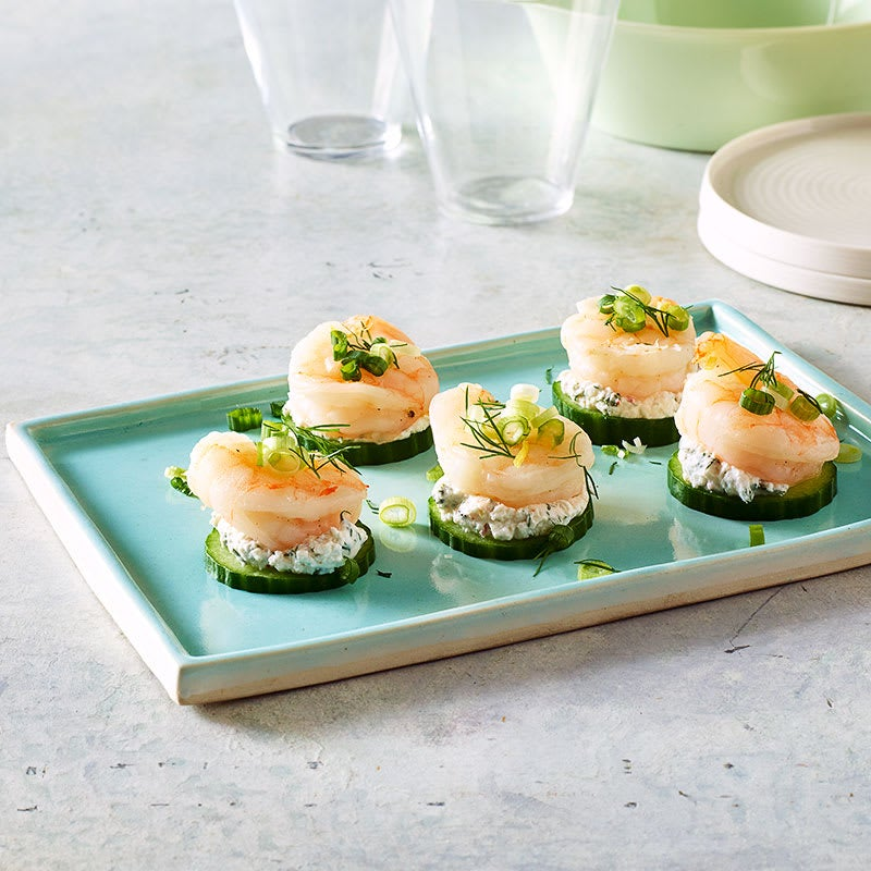 Photo of Shrimp and cucumber tzatziki bites by WW