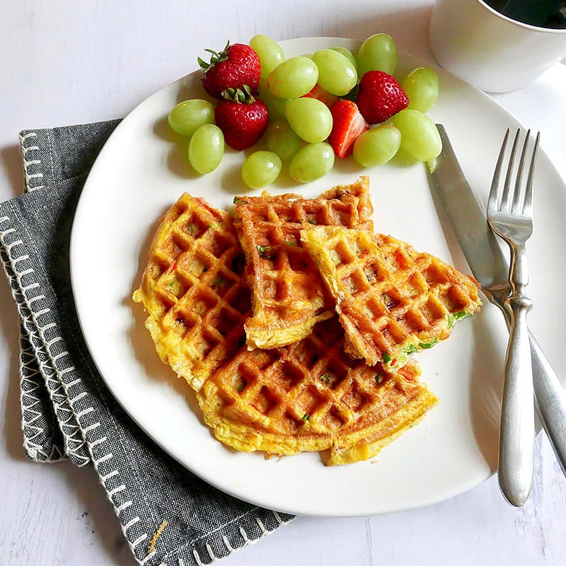 Photo of Denver omelet waffle by WW
