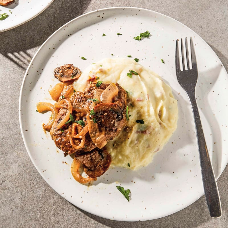 Photo of Salisbury steak with mushrooms and onions by WW