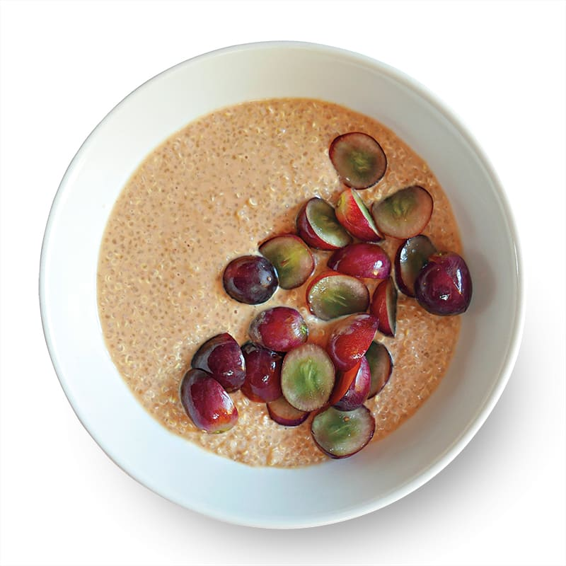 Photo of Hot cereal with peanut butter & grapes by WW