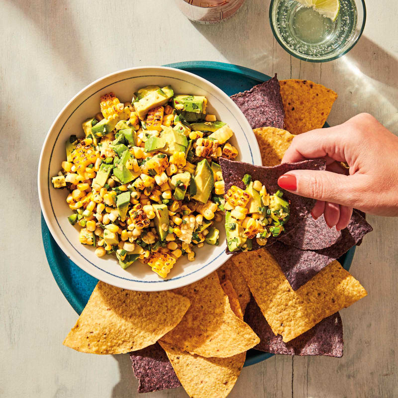 Photo of Grilled-corn and avocado salsa by WW