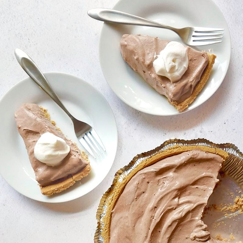 Photo of Easiest-ever 4-ingredient chocolate pie by WW