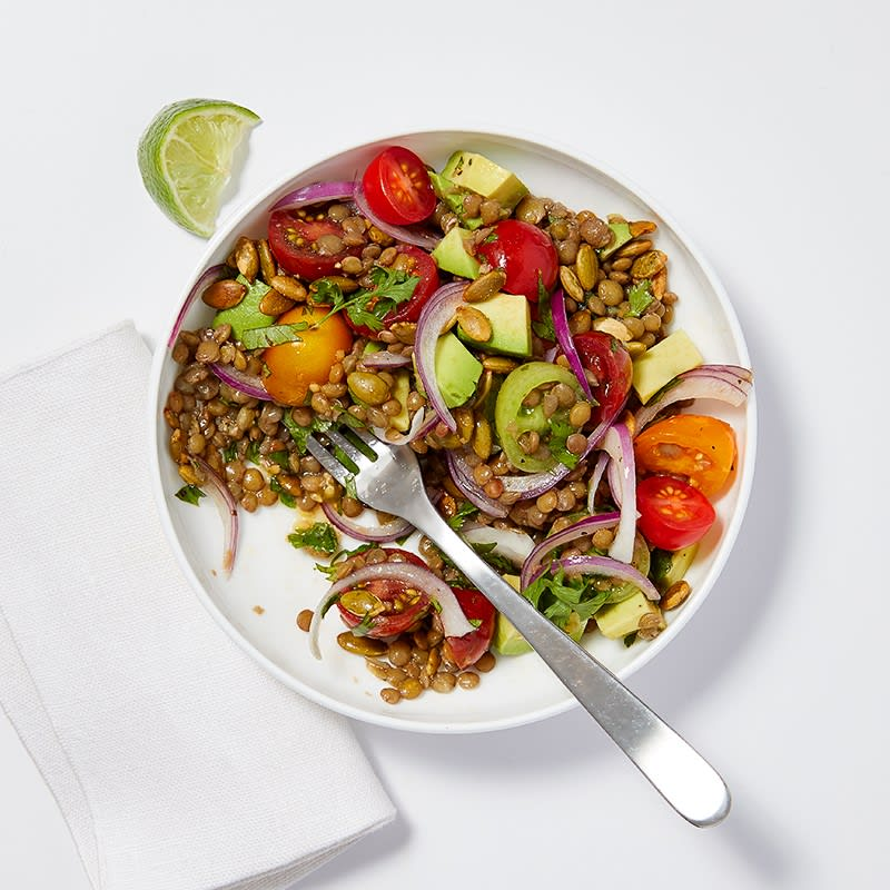 Photo of Lime-cilantro lentil and avocado salad by WW