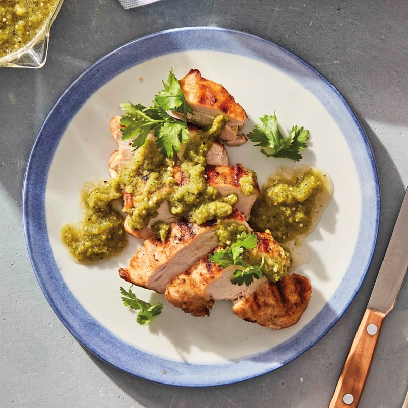 Photo of Grilled chicken with tomatillo salsa by WW