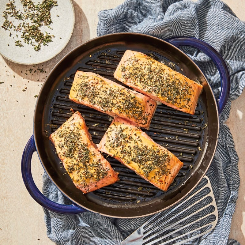 Photo of Grilled salmon with mustard-herb crust by WW