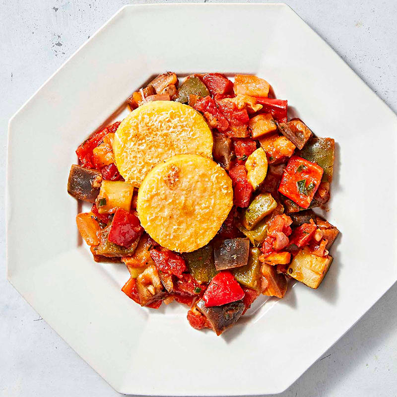 Photo of Broiled polenta with ratatouille by WW