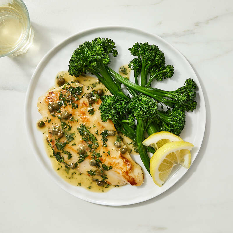 Photo of Chicken piccata with broccolini by WW