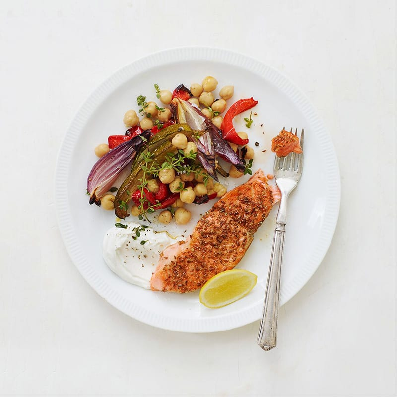 Photo of Salmon with Roasted Chickpeas and Veggies by WW