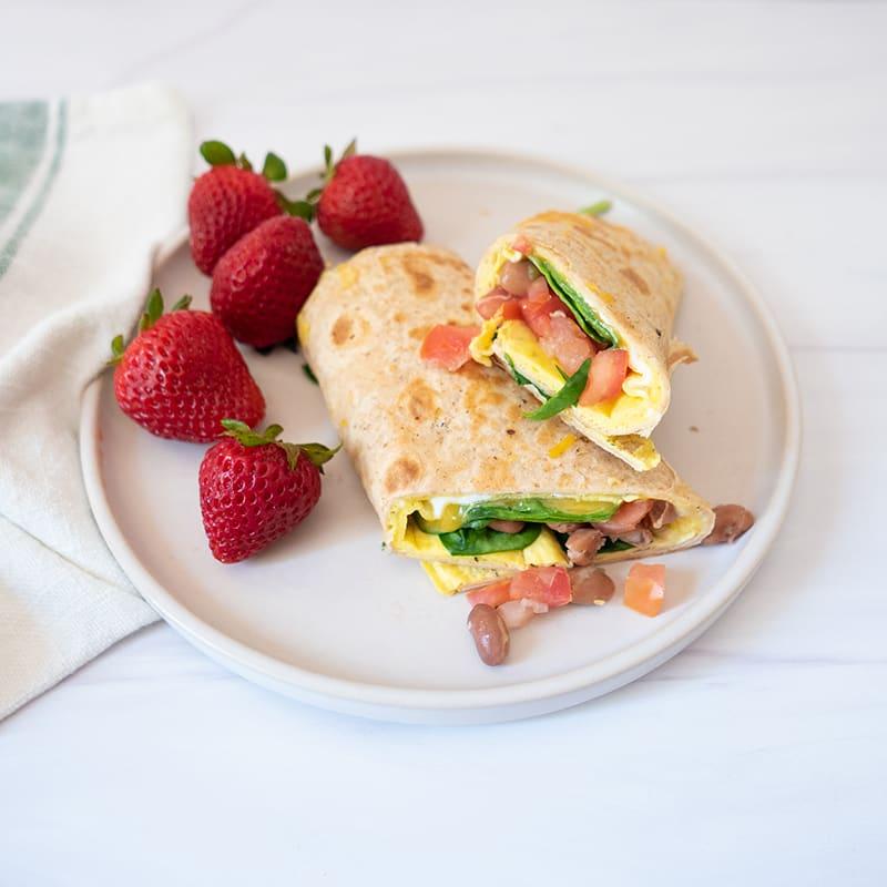 Photo of Easy vegetarian breakfast burritos by WW