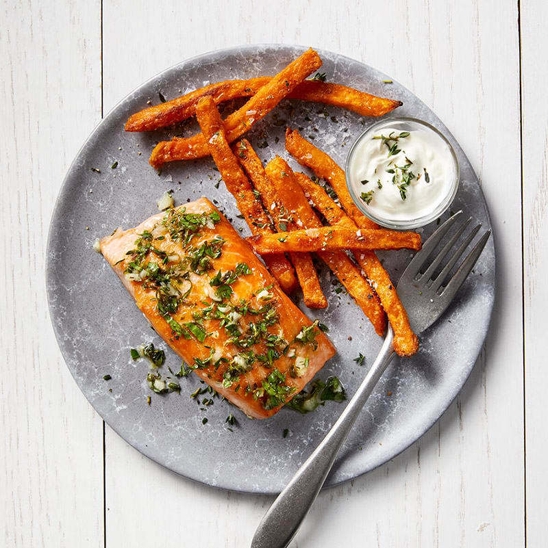Photo of Lemon-herb roasted salmon by WW