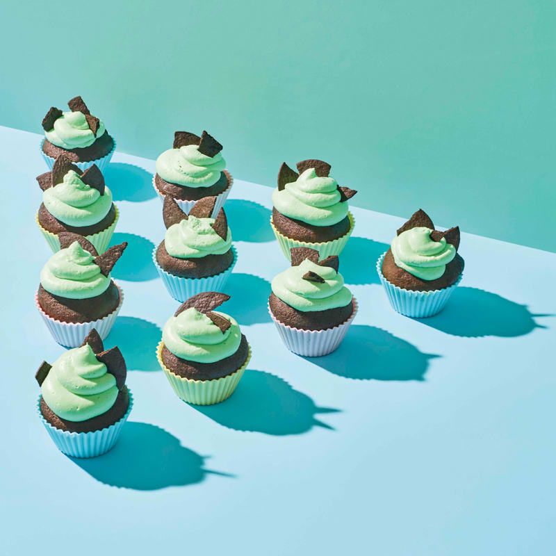Photo of Grasshopper cupcakes by WW