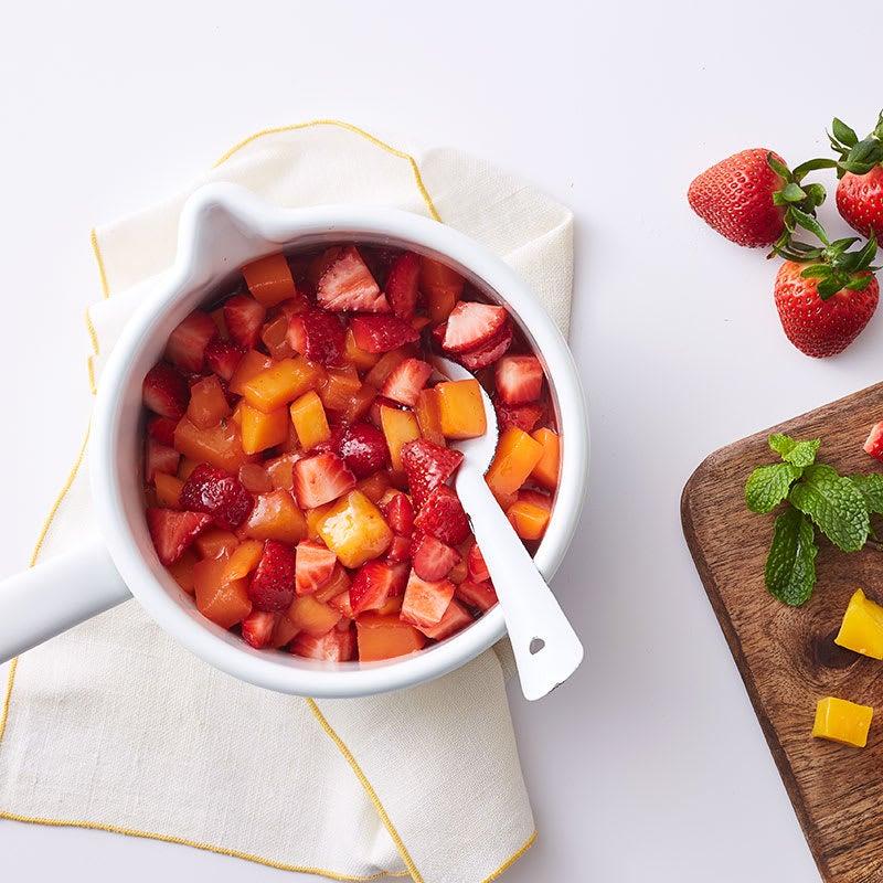 Photo of Greek yogurt with strawberry-mango jam by WW