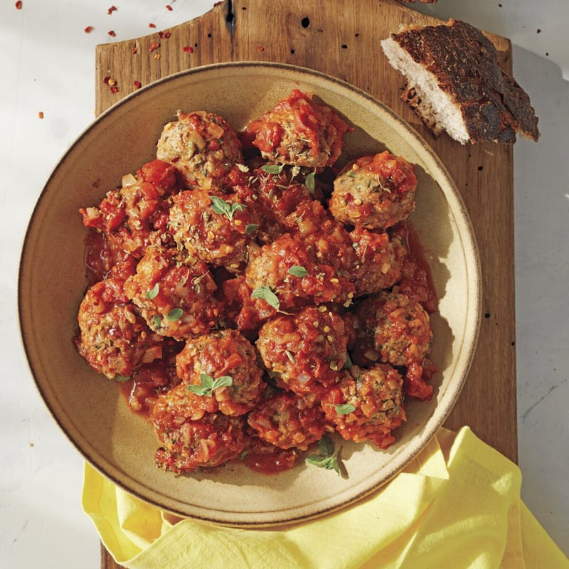 Photo of Lamb-ricotta meatballs and sauce by WW