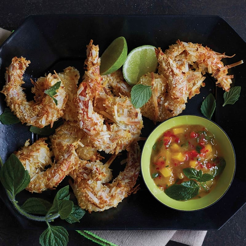 Photo of Coconut shrimp with mango dipping sauce by WW